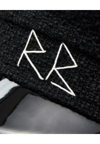 RUSLAN BAGINSKIY - Czarny kaszkiet z logo. Kolor: czarny. Materiał: wełna, lakier, materiał. Sezon: jesień