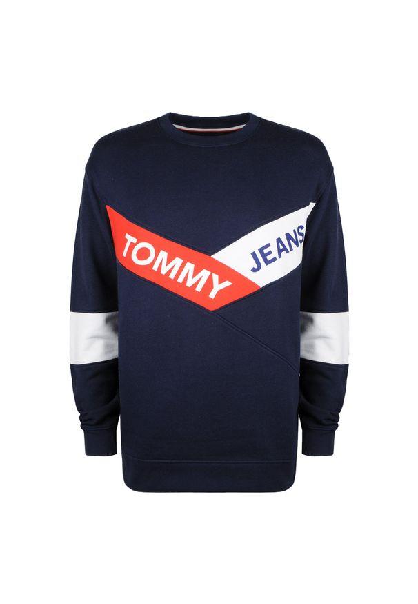 Bluza TOMMY HILFIGER na co dzień, z nadrukiem, z okrągłym kołnierzem, casualowa