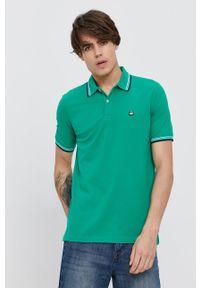 United Colors of Benetton - Polo. Okazja: na co dzień. Typ kołnierza: polo. Kolor: zielony. Długość: krótkie. Styl: casual