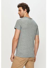 Niebieski t-shirt Premium by Jack&Jones casualowy, na co dzień, gładki