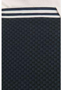 Czarne spodnie materiałowe TOMMY HILFIGER z podwyższonym stanem, gładkie