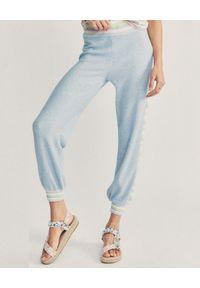 LOVE SHACK FANCY - Niebieskie joggery Barnett. Kolor: niebieski. Materiał: bawełna, dresówka
