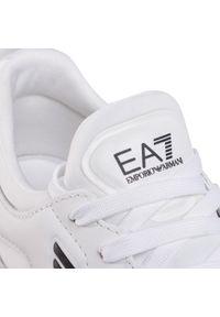 Białe półbuty EA7 Emporio Armani z cholewką, klasyczne