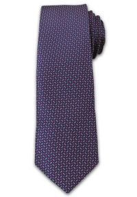 Stylowy, Męski Krawat w Drobny Wzór -6,7cm- Chattier, Kolorowy, Fioletowy. Kolor: niebieski. Materiał: tkanina. Wzór: kolorowy. Styl: elegancki