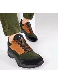 Haglöfs - Trekkingi HAGLÖFS - Skuta Low Proof Eco Men 498410 Oak/Deep Woods. Kolor: zielony. Materiał: skóra, skóra ekologiczna, zamsz, materiał. Szerokość cholewki: normalna. Sport: turystyka piesza #5