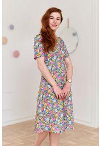 Marie Zélie - Sukienka Aerin Argentea. Materiał: bawełna, skóra, materiał, elastan. Typ sukienki: trapezowe