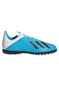 Adidas - Buty dla dzieci do piłki nożnej adidas X 19.4 TF F35347. Materiał: materiał, syntetyk, skóra. Szerokość cholewki: normalna. Sport: piłka nożna