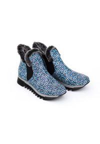 Botki Zapato z cholewką, z nadrukiem, eleganckie