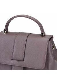 Fioletowy kuferek Wittchen elegancki, skórzany, do ręki