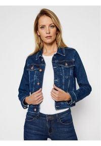 Guess Kurtka jeansowa Delya W1RN01 D4663 Granatowy Regular Fit. Kolor: niebieski. Materiał: jeans