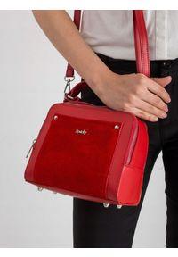 Czerwona torebka ROVICKY skórzana, elegancka