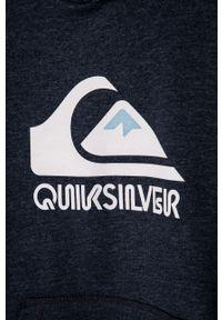 Niebieska bluza Quiksilver z nadrukiem, z kapturem