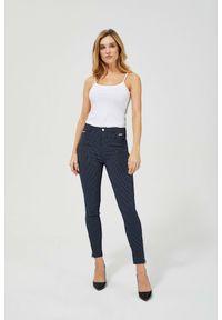MOODO - Spodnie w groszki. Materiał: elastan, poliamid, wiskoza. Długość: długie. Wzór: grochy