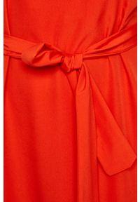 Czerwona sukienka Vila bez rękawów, biznesowa #6