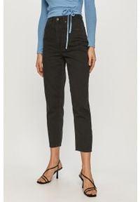 Czarne jeansy loose fit Lee gładkie
