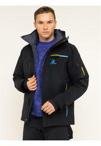 Czarna kurtka sportowa salomon narciarska