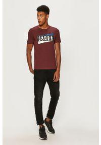 Fioletowy t-shirt Jack & Jones na co dzień, casualowy