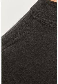 Szary sweter Selected długi, z długim rękawem, z golfem