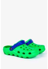 Casu - Zielone klapki basenowe piankowe casu dt8503. Kolor: niebieski, zielony, wielokolorowy