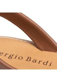 Brązowe sandały Sergio Bardi na co dzień, casualowe
