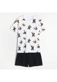 Reserved - Dwuczęściowa piżama The Simpsons - Biały. Kolor: biały
