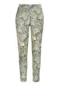 Cream Dżersejowe spodnie z wzorem paisley Lulla zamglona zieleń we wzory female zielony/ze wzorem S (36). Kolor: zielony. Materiał: jersey. Wzór: paisley