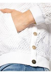 Liu Jo Sport Kurtka bomber TA1078 J6191 Biały Regular Fit. Kolor: biały. Styl: sportowy