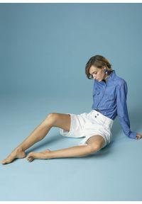 Niebieska koszula długa, klasyczna, z długim rękawem