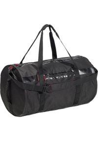 DOMYOS - Torba fitness 55L. Kolor: czarny. Materiał: materiał, poliester. Wzór: paski. Sport: fitness