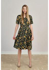 Marie Zélie - Sukienka Alodia Campo. Materiał: wiskoza, materiał. Długość rękawa: krótki rękaw