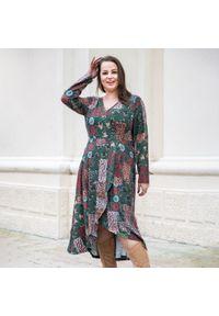 Sukienka dla puszystych Moda Size Plus Iwanek casualowa, na co dzień