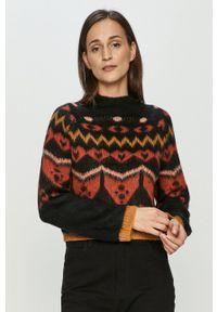 Noisy may - Noisy May - Sweter. Okazja: na co dzień. Kolor: czarny. Materiał: dzianina. Długość rękawa: raglanowy rękaw. Styl: casual