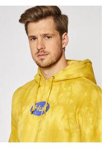 HUF Bluza Relax Tiedye PF00345 Żółty Regular Fit. Kolor: żółty