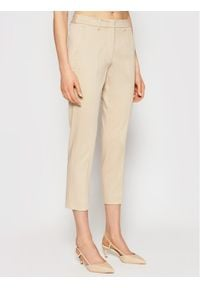 Weekend Max Mara Chinosy Gineceo 51310711 Beżowy Slim Fit. Kolor: beżowy