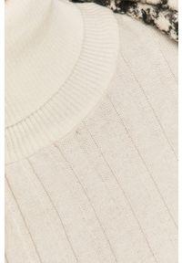 Biały sweter Answear Lab długi, z golfem, wakacyjny