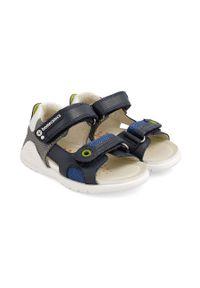 Niebieskie sandały Biomecanics na rzepy, gładkie
