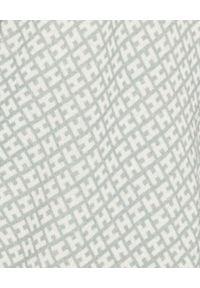 HEMISPHERE - Biały kardigan we wzory. Okazja: na co dzień, na spotkanie biznesowe, do pracy. Kolor: biały. Materiał: jedwab, wełna, kaszmir, materiał. Długość rękawa: długi rękaw. Długość: długie. Styl: biznesowy, casual