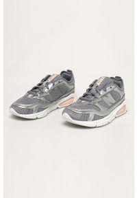 Srebrne buty sportowe New Balance z cholewką, na sznurówki