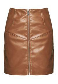 Brązowa spódnica mini Silvian Heach