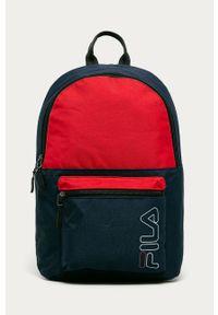 Czerwony plecak Fila z nadrukiem