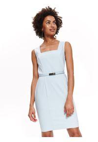 Niebieska sukienka TOP SECRET na ramiączkach, elegancka