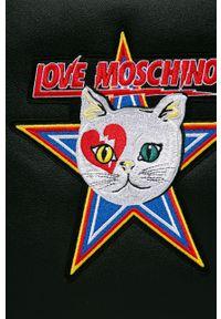 Czarna shopperka Love Moschino na ramię, z aplikacjami, z aplikacjami