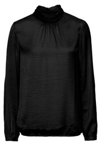 Czarna bluzka bonprix ze stójką, elegancka