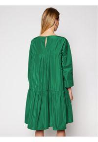 Zielona sukienka Weekend Max Mara na co dzień, prosta, casualowa
