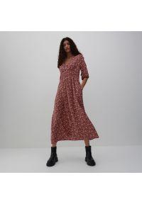 Reserved - Wzorzysta sukienka maxi - Wielobarwny. Długość: maxi