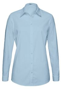 Fioletowa koszula bonprix długa, z długim rękawem
