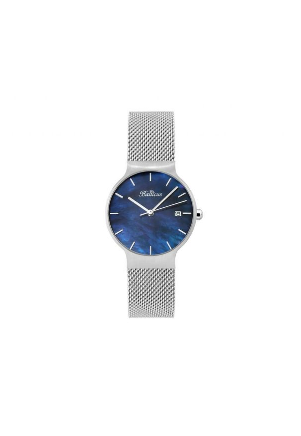BALTICUS ZEGAREK Sky Silver Dark Blue Pearl BLT-SKYSNBL. Materiał: materiał