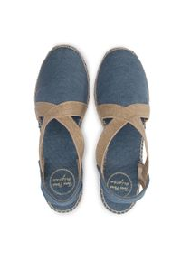 Niebieskie sandały Toni Pons na średnim obcasie, na obcasie