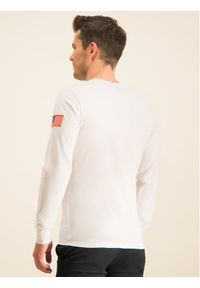 Biała koszulka z długim rękawem Alpha Industries