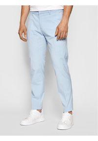 Pierre Cardin Spodnie materiałowe Lyon 3520/000/4910 Niebieski Modern Fit. Kolor: niebieski. Materiał: materiał